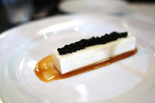 Crème Fraiche Panna Cotta, Caramel, Caviar