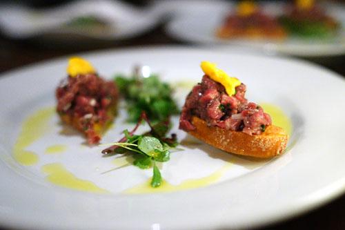 Beef Tartar Crostini