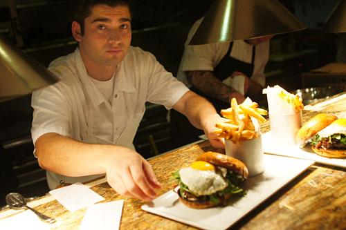 Bailly serves up his Truffle Burger