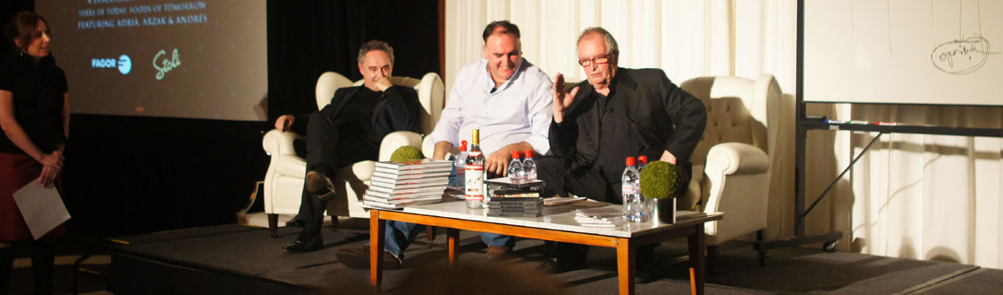 Ferran Adrià, José Andrés, Juan Mari Arzak in Panel Discussion