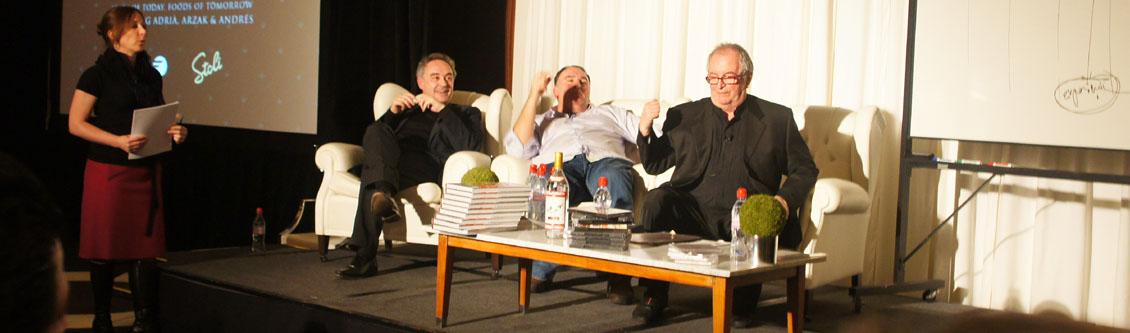 Ferran Adrià, José Andrés, Juan Mari Arzak Discuss Modern Gastronomy