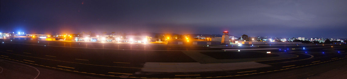 Santa Monica Airport View from Pan Am Room