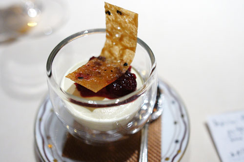 Sour Cream Semifreddo with Spiced Cranberry