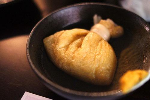 Mochi kinchaku rice cake