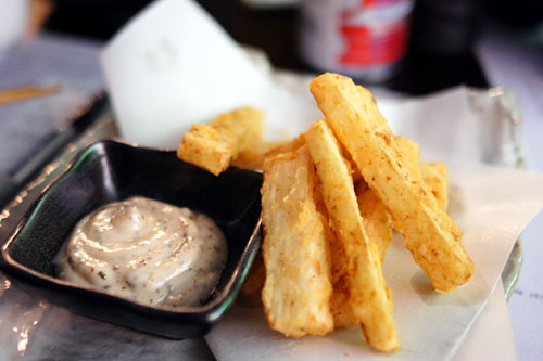 Toranoko french mountain potato fries with plum aioli