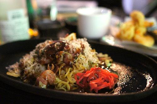 Sauce yakisoba with pork