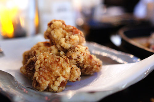 Jidori fried chicken with oroshi sesame