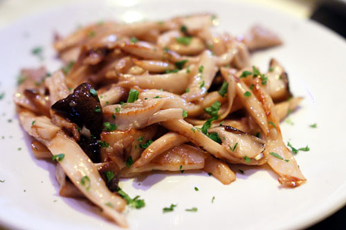 sauté of seasonal MUSHROOMS