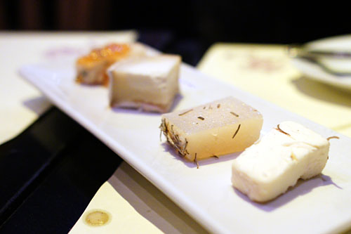 assorted four CHEESE PLATE, chef's choice with Zabbia Late Harvest wine jelly