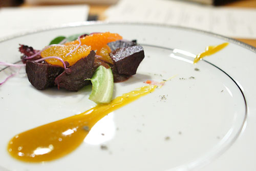 Roasted Baby Beet Salad, Golden Beet Vinaigrette