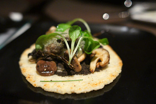 Maize Cake Wild Mushrooms