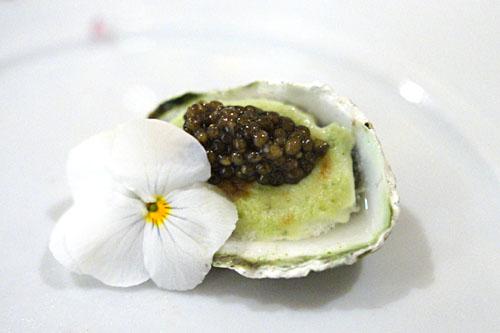 Kumamoto Oyster Gratin with Osetra Caviar