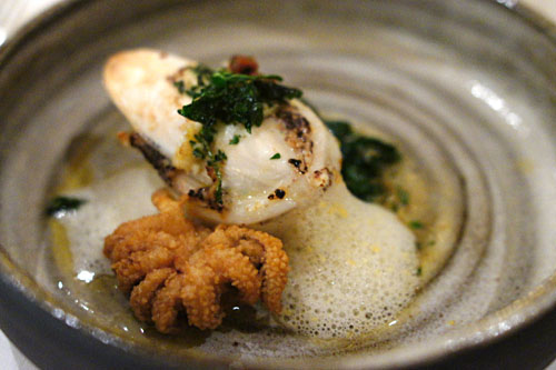 Seafood-Stuffed Sepia with Shellfish Foam