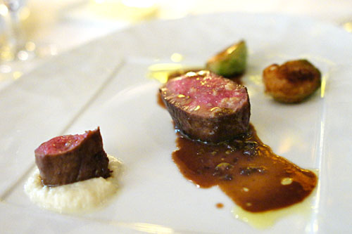 Roasted Lamb Loin with Ragout of Winter Shelling Beans