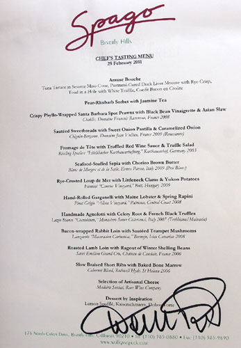 Spago Chef's Tasting Menu