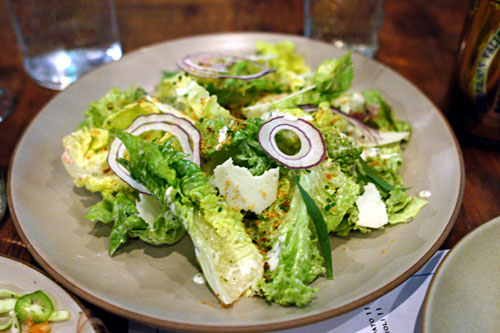 Lettuces, Creamy Herb Dressing, Red Onion, Croutons, Pepato