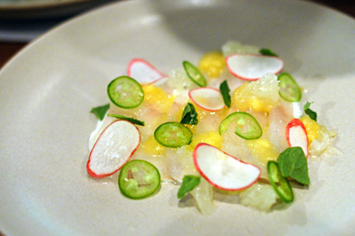 Fluke, Raita, Oro Blanco, Pineapple, Mint