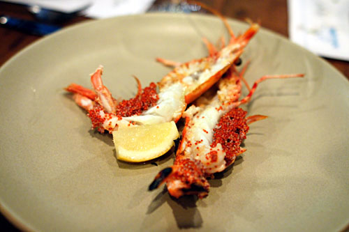 Santa Barbara Spot Prawns, Butter, Lemon, Sea Salt