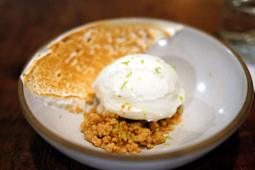 Frozen Lime Yogurt, Graham Crumble, Toasted Meringue