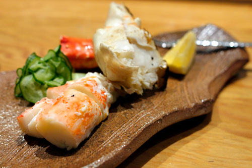 Grilled Alaskan King Crab Sunomono