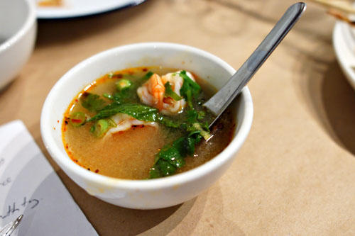 hot pot tom yum shrimp soup