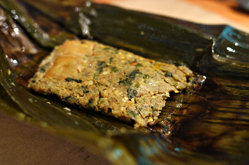 hor ab / catfish tamale