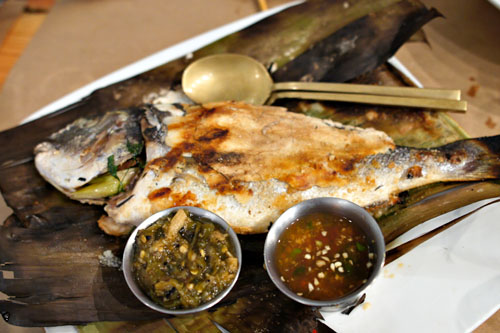 salt-crusted sea bream