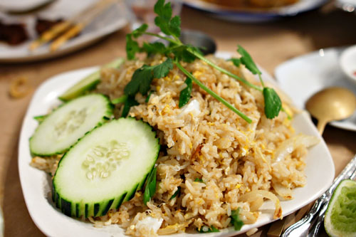 kao pad pu / crab fried rice