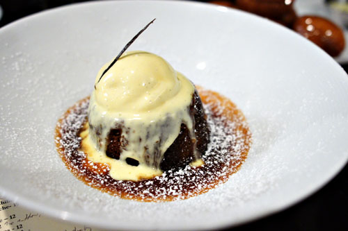 Sticky Toffee Pudding, Salted Caramel, Vanilla Ice Cream
