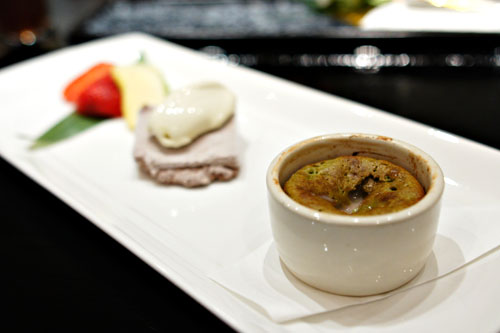 Green Tea Souffl & Frozen Chocolate Mousse