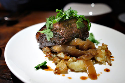 Beef brisket alla Genovese, onions, ozette potatoes, parsley