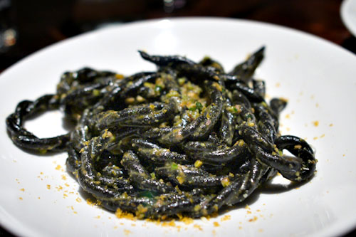 Squid ink fusilli lunghi