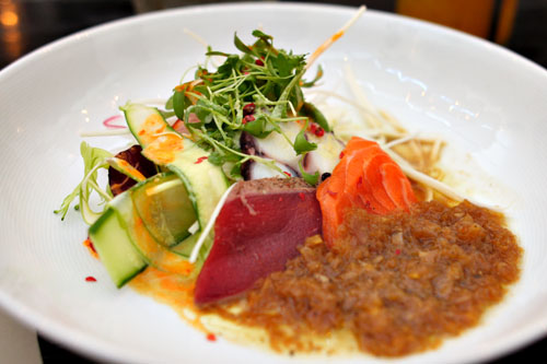 Sashimi Salad w/ Tataki, Tako Carpaccio, and Tasmanian Ocean Trout