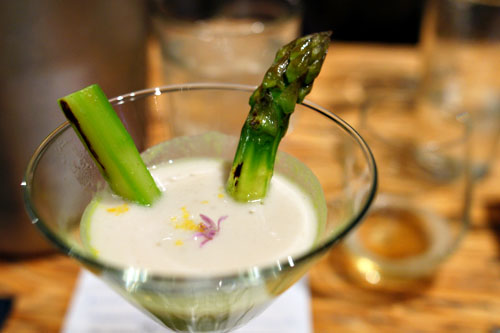 asparagus / rice / ginger