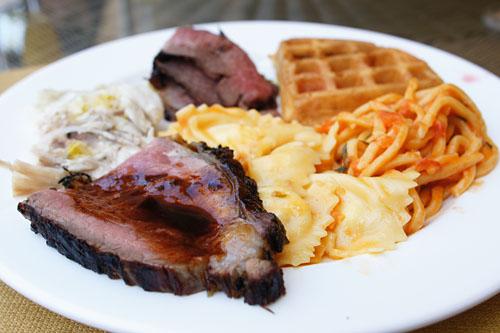 Scarpetta Brunch Plate - Meat & Pasta