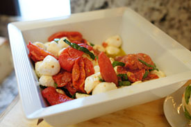 Slow Roasted Tomato & Mozzarella Salad