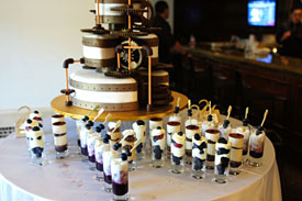 Steampunk Wedding Cake + Tiramisu + Salted Caramel Budino + Fresh Berries & Zabaglione