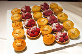 Financiers + Raspberry Cream Tarts