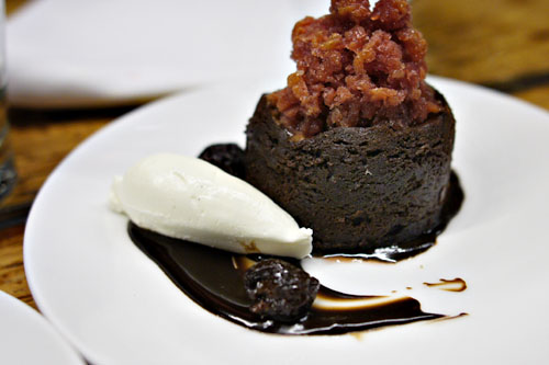 CHOCOLATE CHERRY PUDDING CAKE