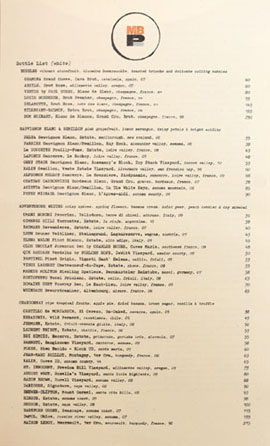 MB Post Wine List