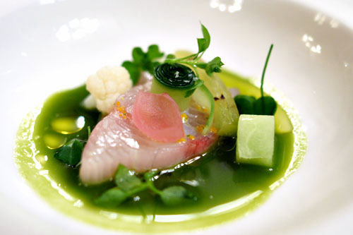 pickles, yellow tail, horseradish, chickweed