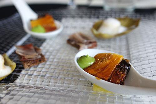 Pumpernickel, Aged Lard / Artichoke Barigoule / Caramelized Eel, Sansho Pepper