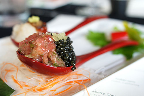 Toro, Osetra Caviar, Takuan, Scallion