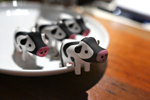 Picca cow keychains