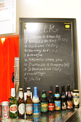 Burger Parlor Beer List