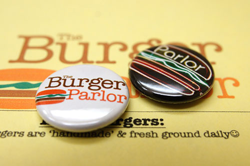 Burger Parlor Pins