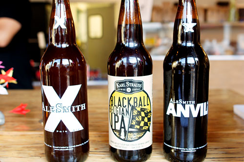 AleSmith X, Karl Strauss Blackball Belgian IPA, Anvil Ale ESB