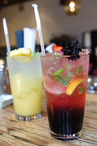 Pineapple Soda, Hibiscus Tea Soda