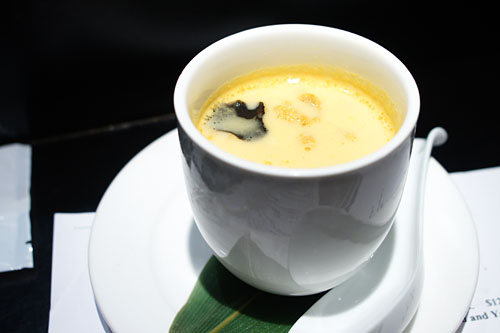 'Chawanmushi' Steamed Egg Custard, Sea Urchin Sauce & Black Truffle
