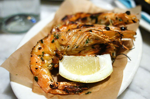 Wood Roasted 'Peel n Eat' Prawns with Garlic, Chili, Parsley & Lemon